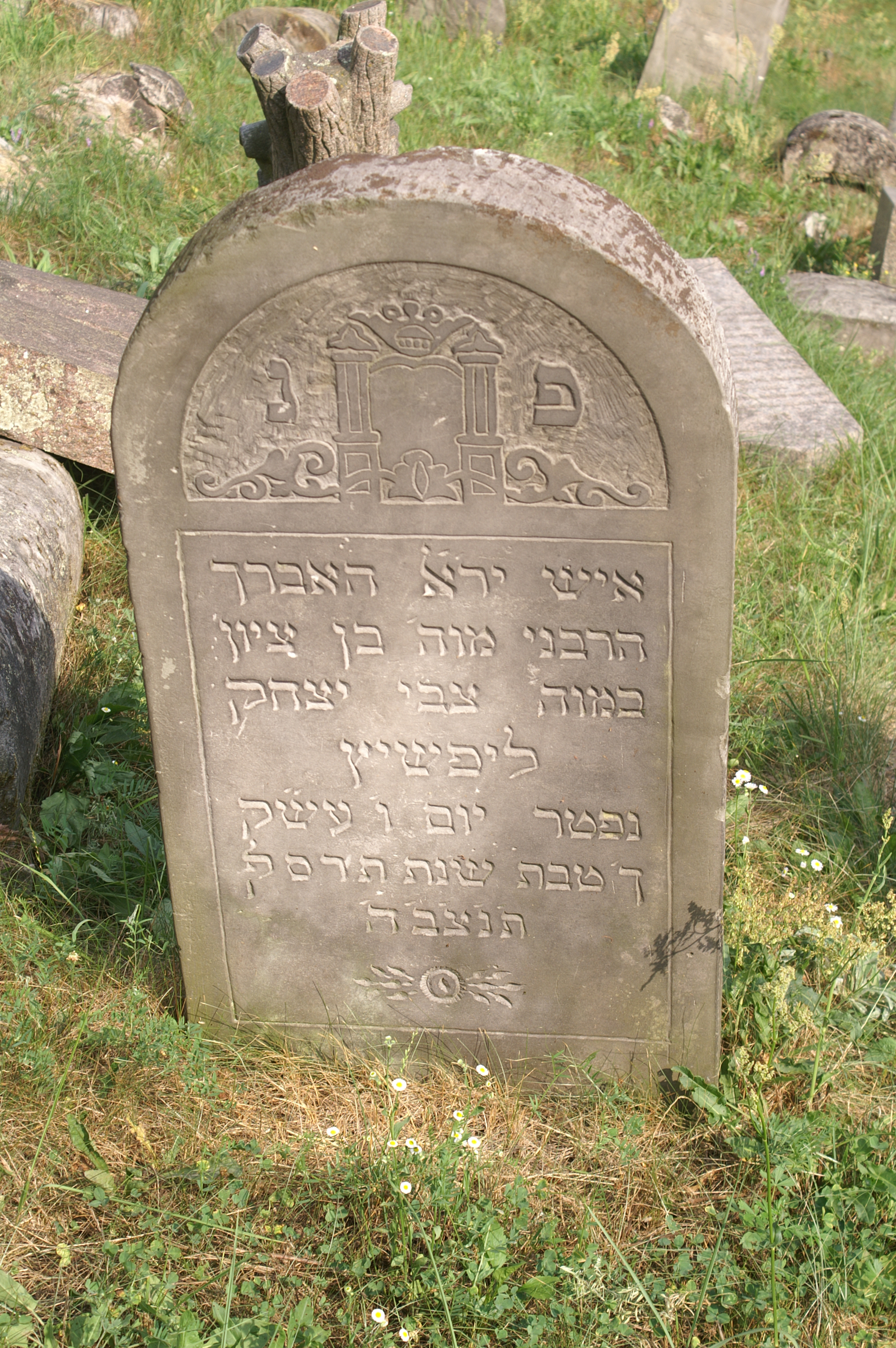 The inscription on the tombstone. Epitaphs on the monument