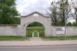 Bagnowka Jewish Cemetery. Main entrance on Ul. Wschodnia. 2010.